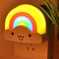 约帅 彩虹 LED 小夜灯 插电光控