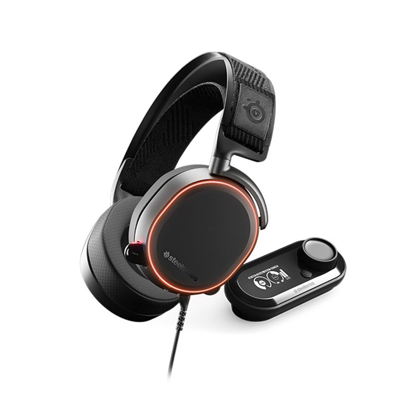 steelseries 赛睿 Arctis Pro + GameDAC 耳机 (游戏主机、头戴式、32Ω、黑色)