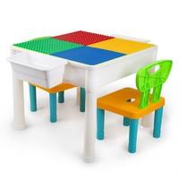 知识花园 两用积木学习桌 大小颗粒+2把椅子+2个收纳盒