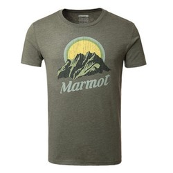 MARMOT 土拨鼠 F54190 棉质圆领短袖T恤