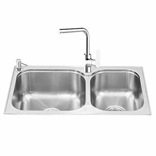 值友专享 : KOHLER 科勒 K-72829T-2SD-NA 丽斯 不锈钢厨房水槽