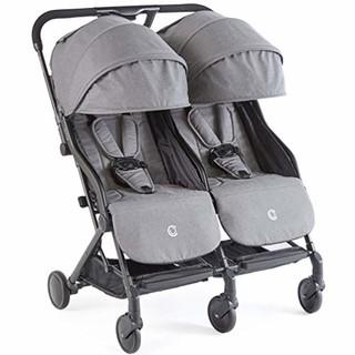 Contours Bitsy Double ZT021 轻便双胞胎婴儿推车 花岗岩灰色