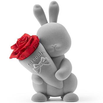 Roseonly 甜心玫瑰兔 (站立版 嫣红)