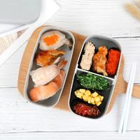 樱彩 YJ625a 磨砂双层饭盒+餐具