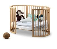 STOKKE 婴儿床 (实木、带滚轮、天然色)