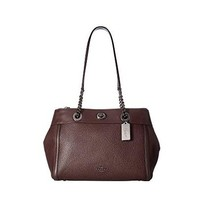 COACH 蔻驰 Turnlock Edie Carryall in Mixed Leather 女款手提单肩包