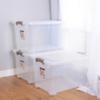 LIXIN 立新 透明塑料收纳箱 带滑轮 3个装*50L