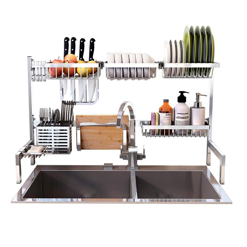 亚诺森 水槽置物架 (304不锈钢、免打孔、63cm/83cm)
