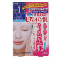 KOSE 高丝 Clear Turn White 玻尿酸保湿面膜 5片 *6件