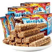 印尼进口Tango咔咔脆巧克力夹心威化饼干160g*3盒休闲网红零食 *5件