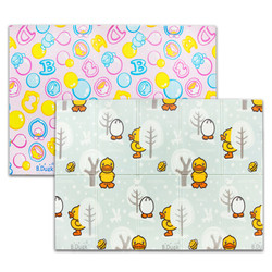 B.DUCK 小黄鸭婴儿爬行垫宝宝爬爬垫客厅儿童加厚可折叠双面图案泡沫XPE家用地垫 *2件