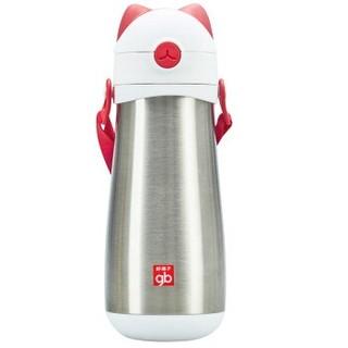 限地区 : gb 好孩子 猫咪系列 保温弹跳饮嘴杯 红色 420mL
