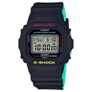 卡西欧(CASIO)手表 G-SHOCK系列经典方块运动数字显示多功能防水石英男表DW-5600CMB-1