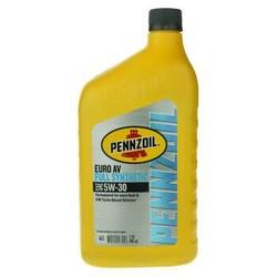 鹏斯 PENNZOIL(壳牌旗下润滑油) 全合成机油 Euro AV 5W-30 SN 1QT 美国原装进口 *4件