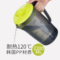 冷水壶2200ml大容量耐高温带盖加厚凉水壶