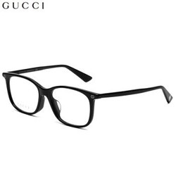 GUCCI 古驰 eyewear 光学镜架女 亚洲版全框近视眼镜 全板材镜架 GG0157OA-001 黑色镜框 52mm
