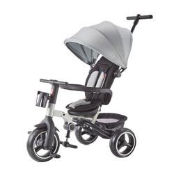 gb好孩子 儿童三轮车 三轮宝宝推车 多功能婴儿脚踏自行车 银色SR500R-G003H