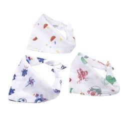 开丽(Kaili)婴儿三角巾宝宝口水巾新生儿按扣纱布围嘴3条/包 *3件