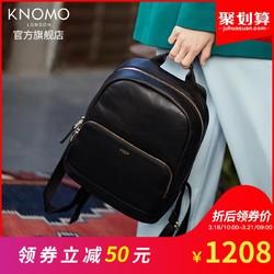 KNOMO英国Minimount新款女式真皮双肩包牛皮时尚休闲旅行包防盗包