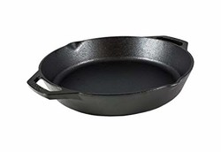 Lodge L10SKL 铸铁平底锅,12 英寸(约 30.5 厘米)黑色