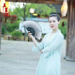 杭州王星记扇子折扇女式中国风丝绸特色礼物送老外折扇古风工艺扇
