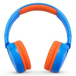 JBL JR300BT 头戴式无线青少年耳机 无线蓝牙耳麦 护耳学生耳机 低分贝儿童耳机 蓝色