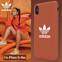 adidas 阿迪达斯 苹果iPhone Xs Max 手机壳保护套 橘色