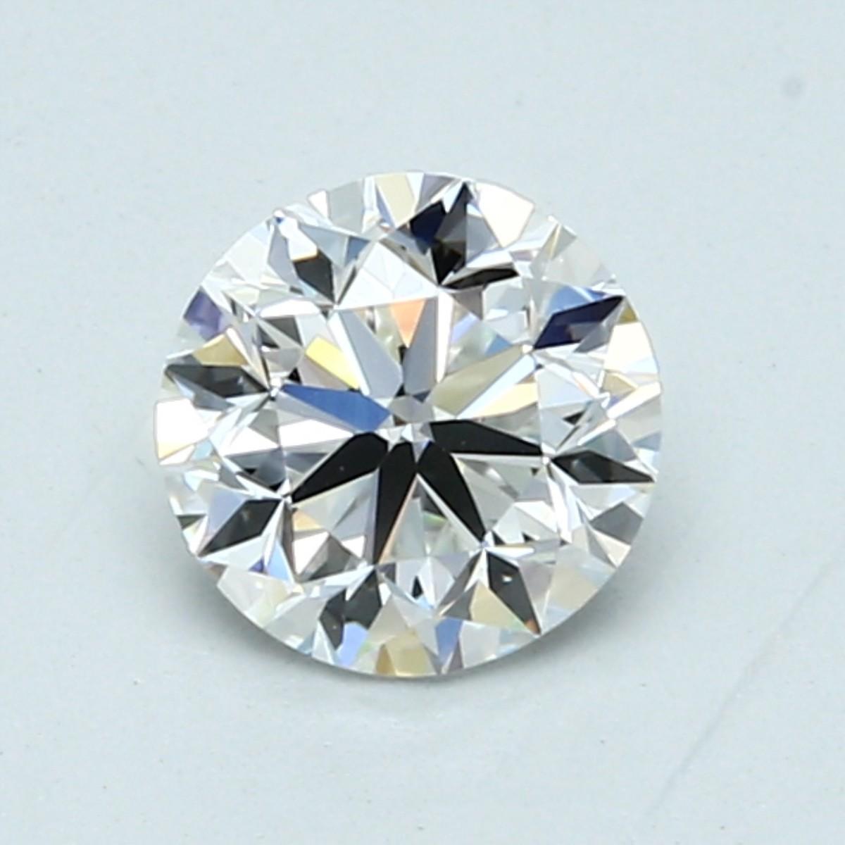 Blue Nile 1.00克拉圆形钻石(成色F,切割VG,净度VVS2)