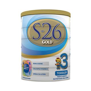 Wyeth 惠氏 S26 金装 幼儿配方奶粉 3段 900g*3件