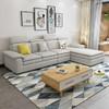 泽遥 北欧布艺沙发左右沙发白蜡木经济型沙发 三人位+贵妃位沙发 2502元