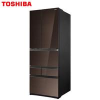 值友专享 : TOSHIBA 东芝 BCD-601WGJT 多门冰箱 601升 兰芷棕