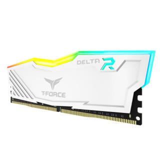 Team 十铨  DELTA DDR4 3200 16GB (8GB×2)  台式机内存 白色