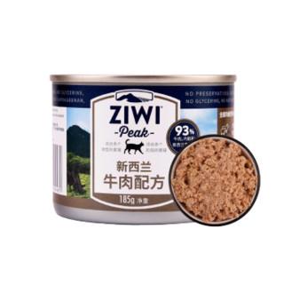 波奇网ZiwiPeak巅峰牛肉猫罐头 新西兰进口 宠物主食罐头185g *6件