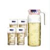 乐美雅玻璃水杯水壶 家用大容量套装水具凉水壶冷水壶鸭嘴壶杯子 24.9元