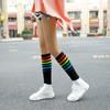 2019春季新品及膝袜 日系彩虹条纹小腿袜 女士高筒堆堆袜子女 2双装 19元包邮(需用券)