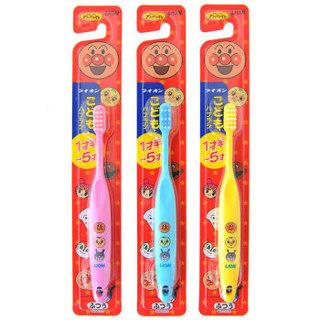 LION 狮王 狮王 (Lion) 儿童牙刷  面包超人 婴儿牙刷1.5-5岁(单支) 颜色随机(日本进口)