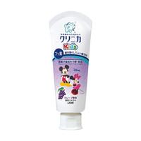 狮王(Lion) 儿童牙膏 迪士尼米奇 齿力佳酵素可吞咽牙膏 含氟防蛀 3-12岁 葡萄味 60g 日本进口 *10件