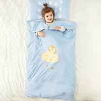 威尔贝鲁(WELLBER) 婴儿睡袋新生儿童双胆可脱胆加厚防踢被四季空调被小狮子120*80cm