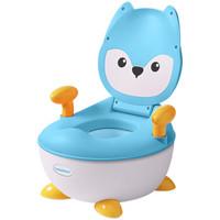 世纪宝贝(babyhood)儿童坐便器 婴儿便盆尿盆小马桶男女宝宝通用 小狐狸抽屉便糟 湖蓝色 BH-113C