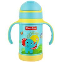美国费雪 婴儿童保温杯 宝宝316吸管杯学饮水杯重力球训练喝水壶 280ML 蓝色