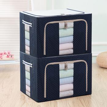 牛津布双面可视收纳箱 衣服杂物整理箱布艺收纳盒储物箱