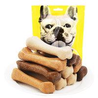 YAHO亚禾 狗狗磨牙棒 混合味230克*袋  约8CM*10根装 三个月以上幼犬小型及大型犬狗咬胶洁齿骨棒零食