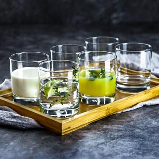Ocean进口玻璃杯子家用水杯茶杯果汁杯牛奶杯威士忌洋酒杯205ML6只套装
