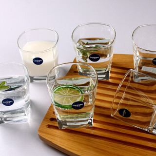 乐美雅 Luminarc 司太宁直身玻璃水杯 无铅玻璃茶杯饮料果汁杯 300ml 6只装