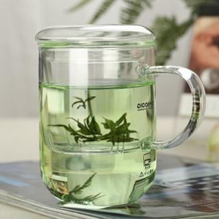 品茶忆友 玻璃杯水杯子泡茶杯茶水分离杯办公室耐热玻璃茶水杯 p-07玲珑