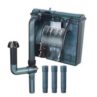 森森(SUNSUN) 森森佳璐LBL-402壁挂式过滤器三合一外置鱼缸水循环泵小型水族箱瀑布式水泵(先加水后使用)