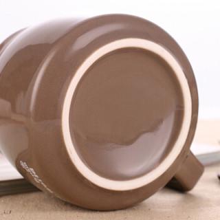 贝瑟斯 咖啡杯套装 陶瓷杯子 马克杯带盖带勺创意陶瓷杯带盖带勺牛奶杯早餐杯办公室水杯子喝水杯 可定制