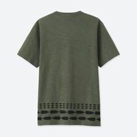 UNIQLO 优衣库 男 (UT) 印花T恤 (SAKAGURA、橄榄色、短袖、417079 )