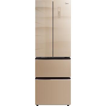 美的(Midea)311升 多门双开门电冰箱抗菌保鲜冷藏冷冻玻璃面板变频无霜节能智能家电BCD-311WGPZM(E)