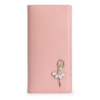 Mexican 稻草人 女士牛皮长款钱夹 MXD30494L-02 粉色